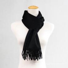 Lenço de caxemira de lã de cor pura para homens e mulheres CD20al