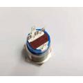 Interrupteur à bouton métallique marche / arrêt de 19 mm