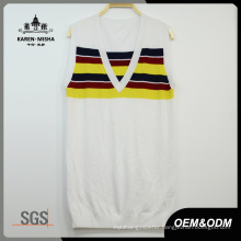 Ladies Stripes Color Vest Clothes