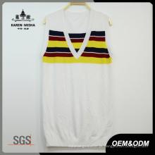 Senhoras Listras Color Vest Roupas