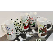 Haonai 2014 lovely snowman gift ceramic mug