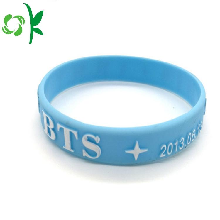 Blue Silicone Bracelets