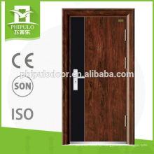 популярный дизайн низкая цена Китай безопасности стальная металлическая дверь