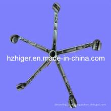 Piezas de fundición de aluminio / patas de muebles con cinco pies