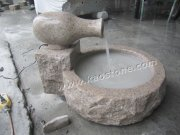 G682 Yellow Granite Garden Water Fountain
