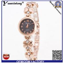 YXL-807 China fábrica girasol en forma de reloj de pulsera de señora fina caso moda