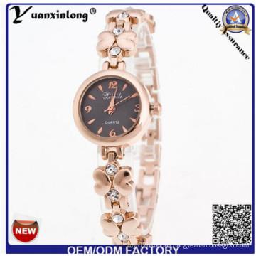 Yxl-807 China Factory Sunflower Shaped Case Fashion Thin Lady Wristwatch