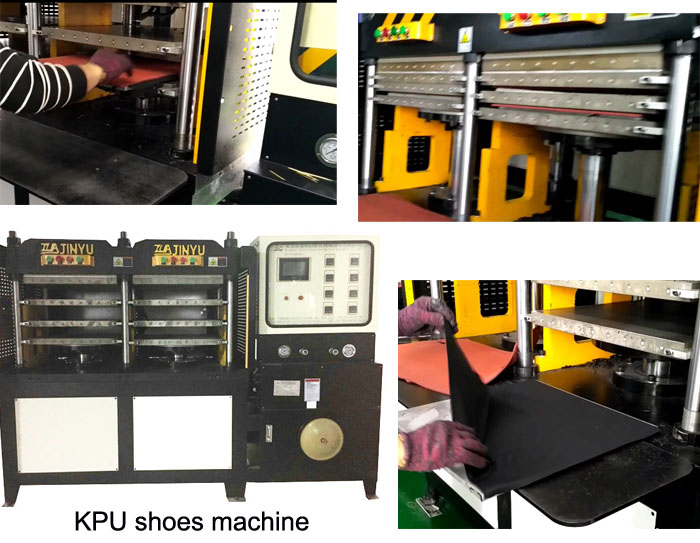 Kpu Glove Upper / Cover Hot Haking Forming Machine