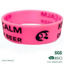 Bracelete de borracha personalizado do silicone do PVC do logotipo mindinho