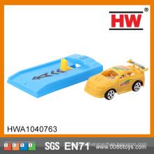 Смешные 8cm пластиковые Дети сплошной цвет с выбросом плиты Micro Mini игрушки автомобили