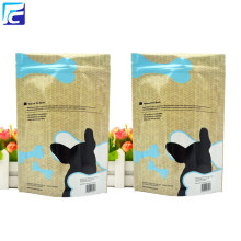 Zip lock custom printed pouches pet food bag