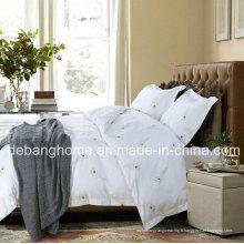 Haute qualité 100% coton blanc Style simple Ensemble de literie confortable