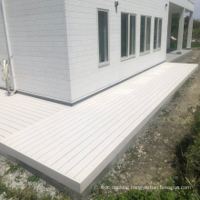 Japan Style of Solid WPC decking of White color,wood plastic composite decking,140*25mm