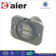 Daier Fixed Plate Mounted Car Dual Port Digital Ammeter And Voltmeter