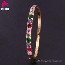 Bijoux fantaisie Eco-Friendly Bracelet élégant en or blanc 18 carats