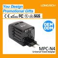Celular Adaptador de carregador LED com ficha de viagem multifunções para 150countries N4