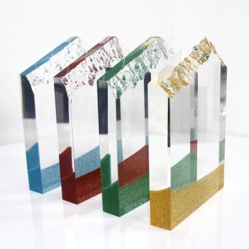 free design clear glass  crystal trophy award