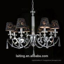 Zhongshan Élégant Noir Led Vintage Lampe à Suspension