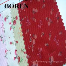 100% coton imprimé et son tissu en velours côtelé