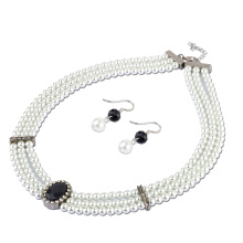 Fashion Pearl Necklace and Earring Set