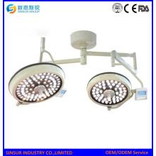 Chirurgische Ausrüstung LED Doppel Kopf Decke Schattenlose Betriebslampe