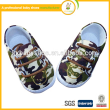 The 2015 best selling direct selling cheap fashion camouflage frenum soft baby shoes for kids