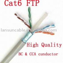 Cat6 FTP fio de cabo de cobre puro, UL / ROSH / CE / ISO, Pass teste fluke