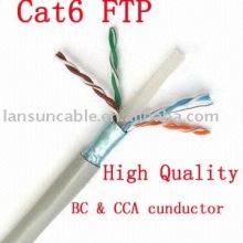 Cat6 FTP Чистая медная кабельная проводка, UL / ROSH / CE / ISO, испытание на проходимость