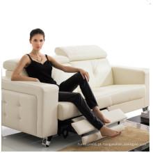 Sofá de sala com sofá de couro genuíno moderno (404)