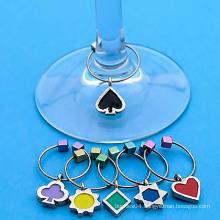 custom printing high heel wine glass charm