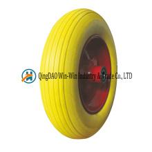 14 * 3.50-8 pneu de brouette solide de mousse de polyuréthane avec la couleur de rayon