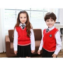 La manera al por mayor hizo punto los diseños del uniforme de escuela primaria
