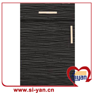 Pvc pressed kitchen Wooden cabinet door