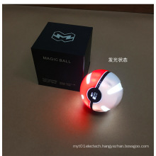 Pokemon Ball Power Bank 10000mAh Round Mobile Phone Charger with LED Lights