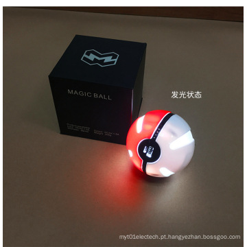 Pokemon Ball Power Bank 10000mAh rodada carregador do telefone móvel com luzes LED