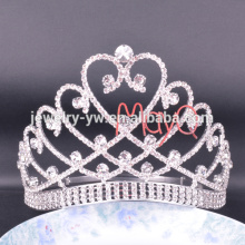 Le plus récent style grand grande grande pageant Crystal Tiara Crown