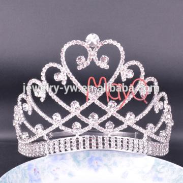 Die neueste Art große große große Festzug-Kristall-Tiara-Krone