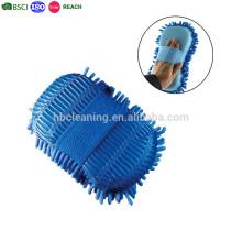 Gant épais de lavage de microfibre de Multi-Fiber, double gant de lavage dégrossi
