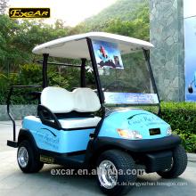 Niedriger Geschwindigkeits-Fahrzeug 2 Sitzer 48V Sonnenkollektor-Golf-Auto-billiges Mini Golf-Auto