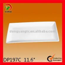 Custom white porcelain rectangular plate