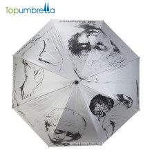 Paraguas personalizado de la impresión del diseño barato del fabricante