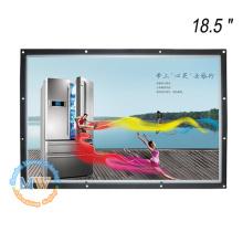 1366X768 resolución 18.5 pulgadas reproductor de fotos de marco abierto para publicidad comercial