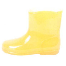 Yellow Baby's Pvc Injection Boots