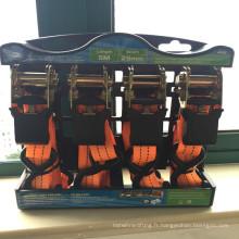 """Orange sling 25mm/ 1"""" 4 tendeur à cliquet"""