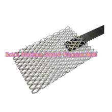 Platino recubierto de titanio anodas malla / platino chapado malla de titanio para electro / piscina --- 35 años de fábrica
