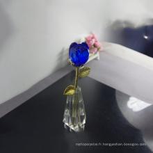Cadeau de porte de mariage en cristal bleu rose pas cher