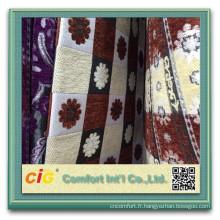 100 polyester canapé tissu de Chenille chenille géométrique tissu canapé tissu