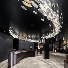 Lámpara de araña de proyecto moderno de gran lujo de nueva oficina de diseño