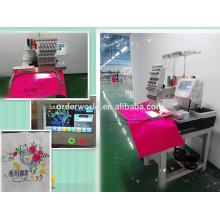 Encomendar comercial 15 cores única cabeça computador bordado preço da máquina para o tampão / t-shirt / flat bordado