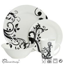 Vente en gros de porcelaine classique avec Decal Dinner Set 16PCS